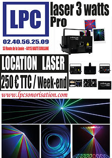 Location Laser Professionne 3 Watt