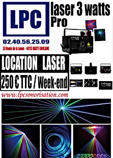 Location Laser Professionne 3 Watt