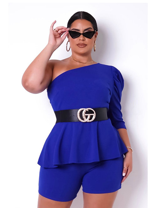 Plus Size Heaven Two Pieces Set- Royal