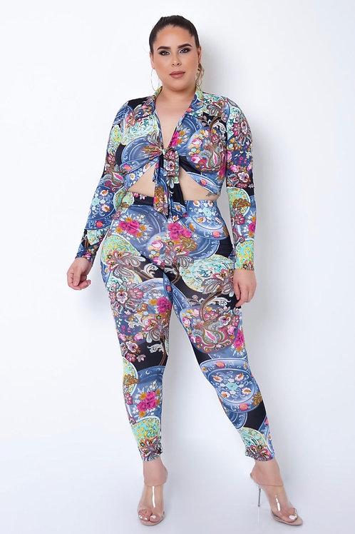 Plus Size Olivia Two Piece Pant Set