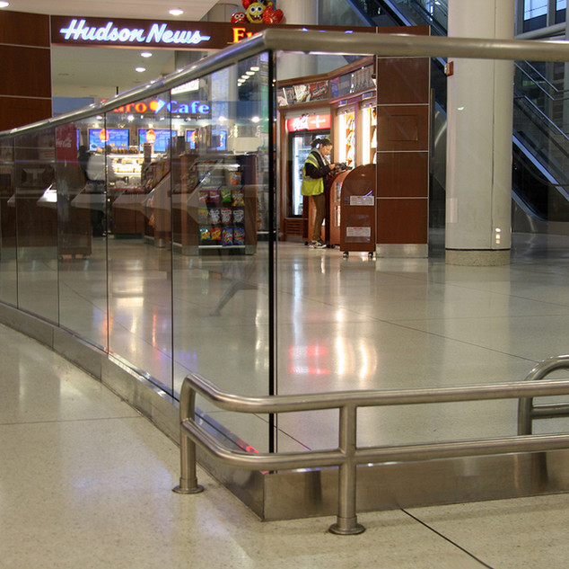Stainless Steel & Glass Railing Display