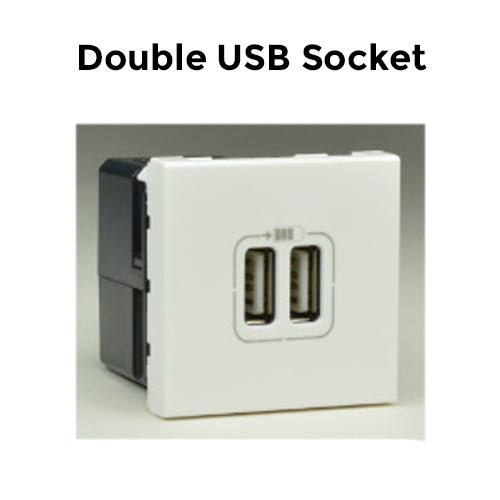 Double USB socket