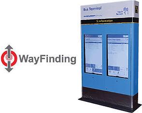 Wayfinding digital signage kiosk