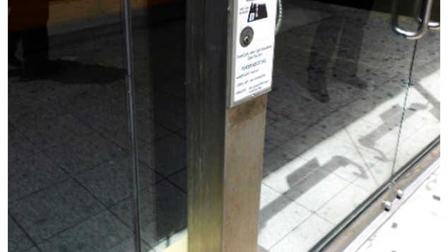 Stainless Steel Floor Mounted Card Reader Post