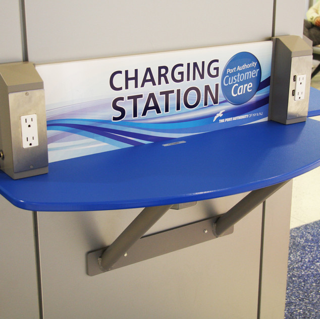 Charging Station Shelves