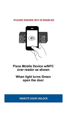 remote door unlock with NFC