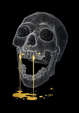 Wireframe Skull