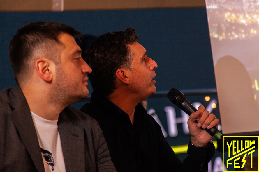 Alexander Bornyakov and Dominique Piotet at Yellow Fest Zero Panel Discussion