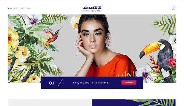 Krása a wellness website templates – Natural Beauty Store