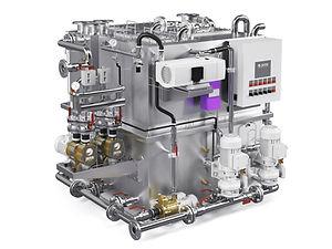 Jets vacuum Ecomotive sewage treatment plant