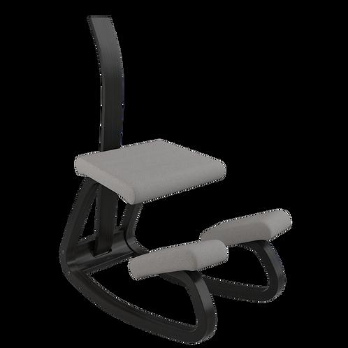 Variable balans® hintatalpas szék fekete vázzal és háttámlával