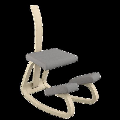 Variable balans® hintatalpas szék natúr vázzal és háttámlával