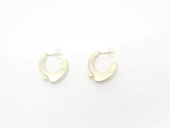 E011SS  Hoop Earrings