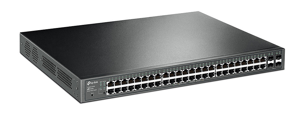 TP-Link JetStream 48-Port Gigabit Smart PoE+ Switch with 4 SFP Slots