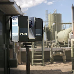 Faro S350 Laser Scanner scanning an oil and gas facility