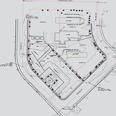 Civil 3D topographic drawing layered on an AutoCAD Civil 3D drawing for an ALTA survey image