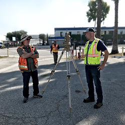 Survey crew with Topcon Total Station