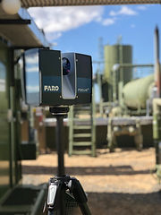 Faro Laser Scanner at oil and gas facility