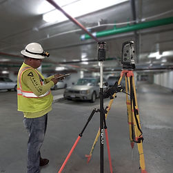 Land Survey Party Chief with Trimble Robotic Total Station