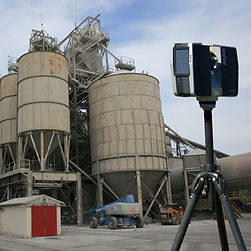 Faro S350 Laser Scanner scanning a mining facility