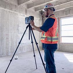 Far S70 Laser Scanner scanning a commercial building renovation