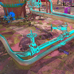 Point cloud as-built of an oil and gas facility