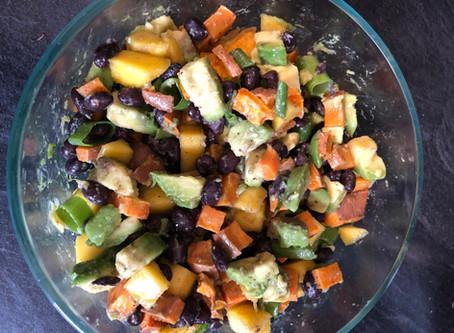 Avocado, Sweet Potato, Mango Salad