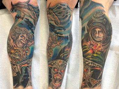 Adam Rose Tattoo, Fallen Owl tattoo, tat
