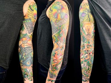 Tech sleeve, adam rose tattoo, denver ta