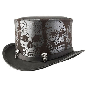 Silver Skull Hat