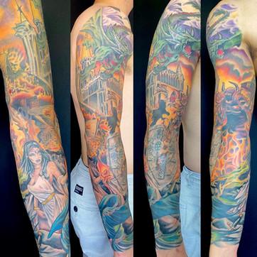 Wizard sleeve, adam rose tattoo, fallen