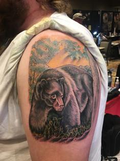 adam Rose tattoo, bear tattoo, denver co