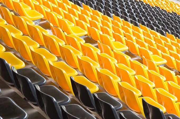 Black and yellow seats in Borussia stadi