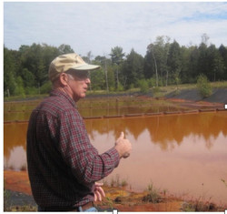 Pete Dalby at Mill Creek when the project began
