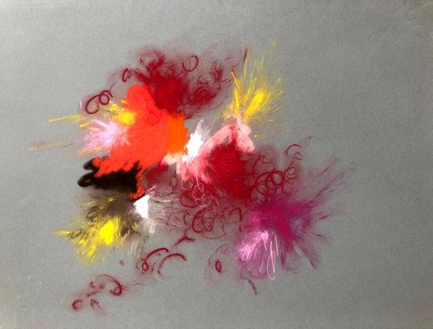 1 Pastellkreide auf Velour-Pastellpapier. Größe: 80x60cm