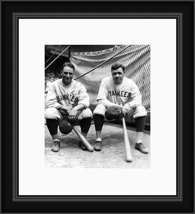 Babe Ruth and Joe DiMaggio