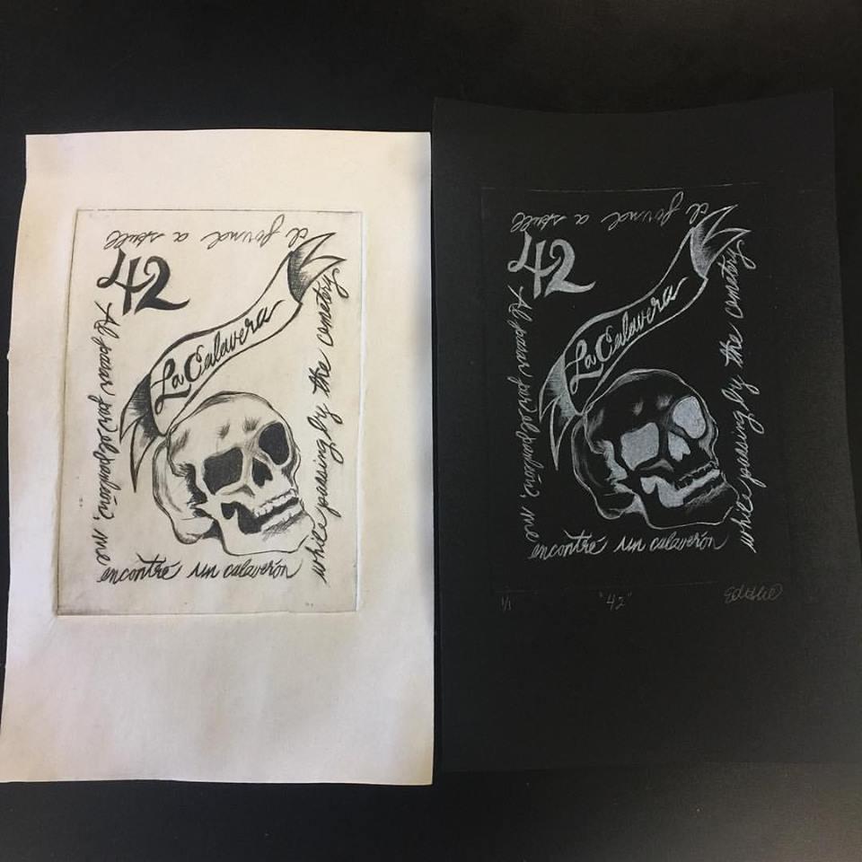 Dry Point Etching Printmaking
