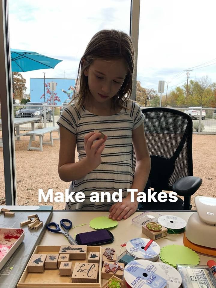Make & Takes at Small Business Saturday Pop-Up Event