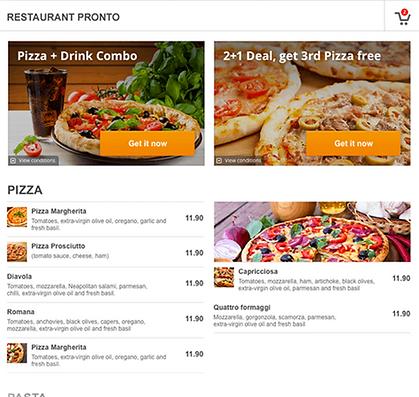 Pronto-resto , gestion des commandes et réservation en ligne