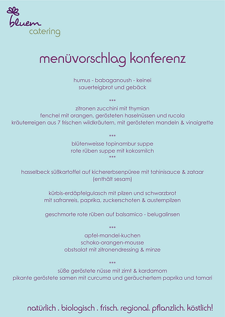 bluem catering menüvorschläge konferen