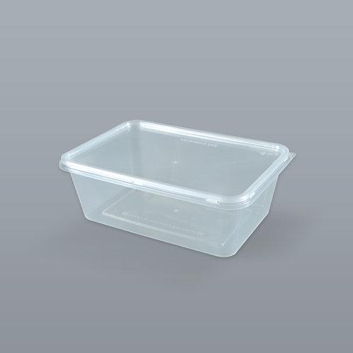 กล่องอาหารเดลิเวอรี่ 650 ml (ทรงสี่เหลี่ยมผืนผ้า) บรรจุ 25 ชุด/แพ็ค