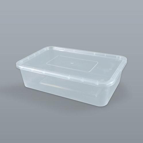กล่องอาหารเดลิเวอรี่ 1600 ml (ทรงสี่เหลี่ยมผืนผ้า) บรรจุ 10 ชุด/แพ็ค