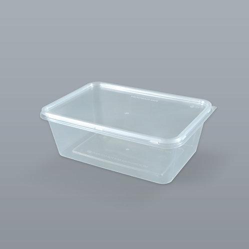 กล่องอาหารเดลิเวอรี่ 750 ml (ทรงสี่เหลี่ยมผืนผ้า) บรรจุ 25 ชุด/แพ็ค