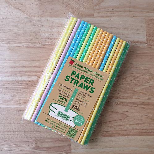 หลอดกระดาษสี 6 mm บรรจุ 100 ชิ้น
