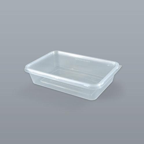 กล่องอาหารเดลิเวอรี่ 500 ml (ทรงสี่เหลี่ยมผืนผ้า) บรรจุ 25 ชุด/แพ็ค