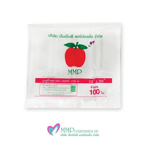 ถุงหูหิ้ว HDPE 12x20 นิ้ว (100 ใบ)