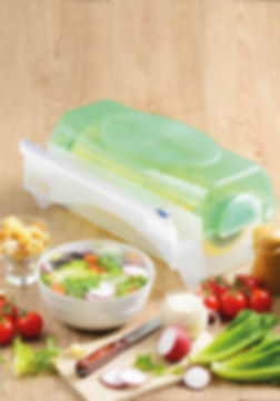 กล่องตัดฟิล์มถนอมอาหาร ที่แรปอาหาร ใช้สะดวกคู่กับฟิล์ม เอ็ม แรป มีทั้งขนาด 12 นิ้ว และ 18 นิ้ว