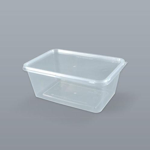 กล่องอาหารเดลิเวอรี่ 1000 ml (ทรงสี่เหลี่ยมผืนผ้า) บรรจุ 25 ชุด/แพ็ค
