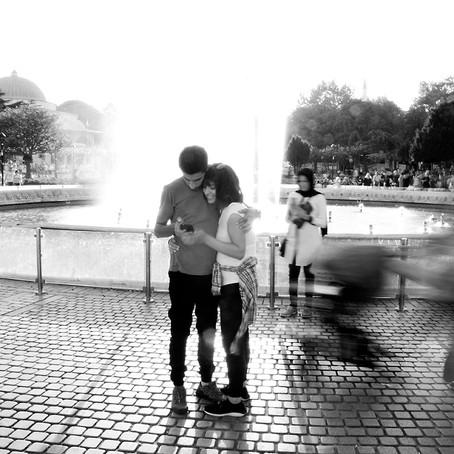 the loving couple   Sultanahmet Park, Istanbul, Turkey