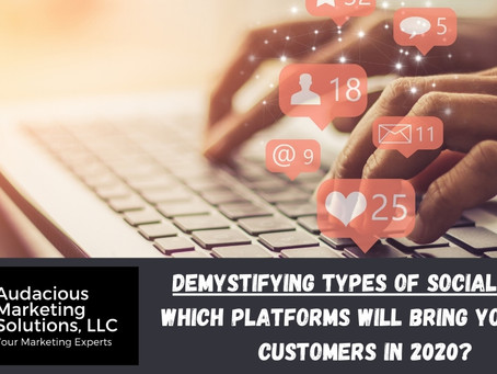 Demystifying Types of Social Media - Which platforms will bring you more customers in 2020?